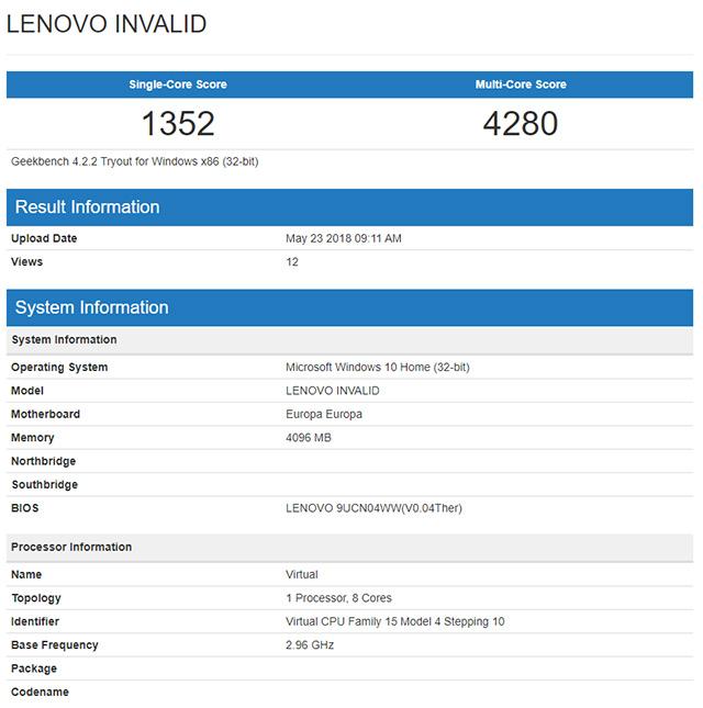 Lenovo Snapdragon 845 Windows 10
