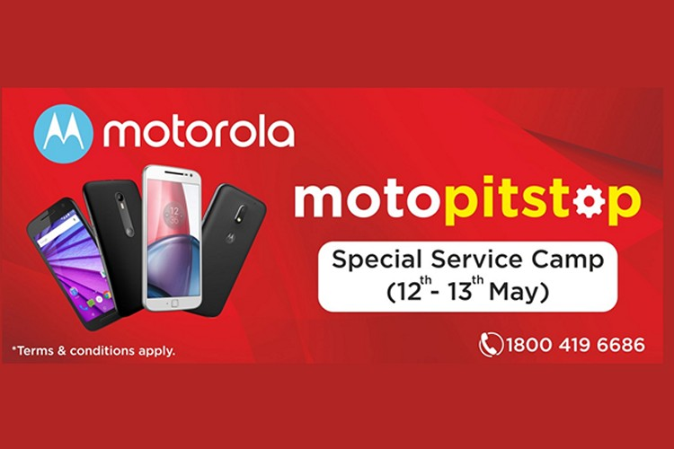 Motorola's 'Moto Pitstop' In Delhi on May 12-13 To Offer Free Service, Discounts, Upgrades