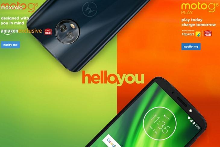 Motorola G6 Series India website