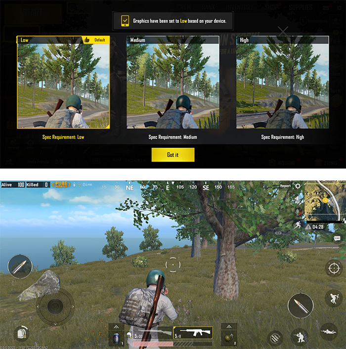 Samsung Galaxy A6 Plus PUBG