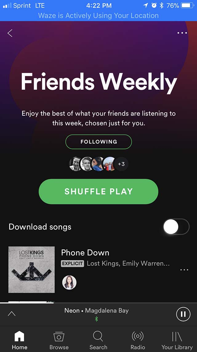 Spotify Friends Weekly