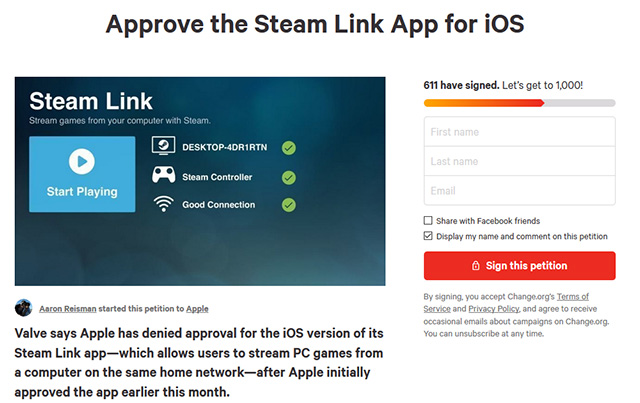 Steam Link Petition