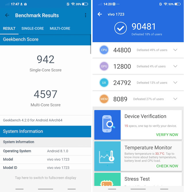 Vivo V9 performance 2