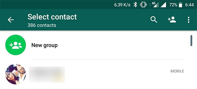 WhatsApp Contact Shortcut 1