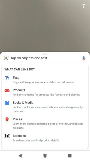 google lens new prompt