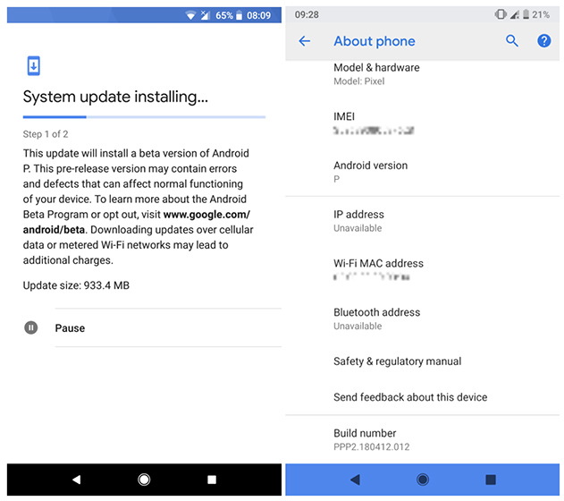2nd Android P Developer Preview Leak Flaunts New Navigation Bar Gestures