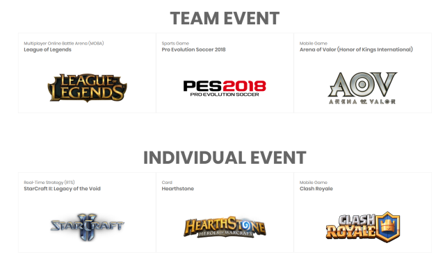 League of Legends, PES, Hearthstone Among eSports Titles Announced for 2018 Asian Games