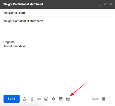 confidential start gmail