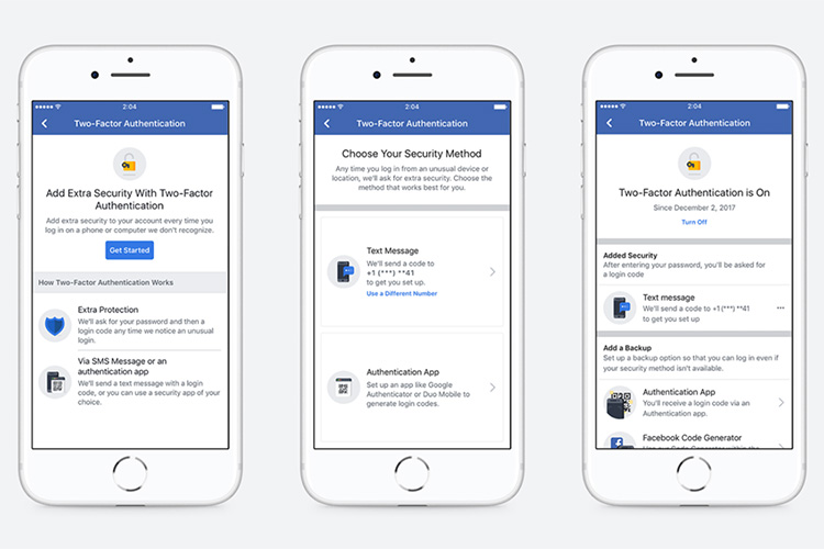 Facebook Two-Factor Authentication Now Works Without Phone
