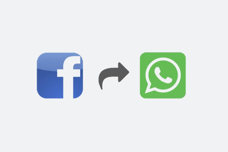 """Facebook Might Soon Get a """"Send in WhatsApp"""" Sharing Button"""