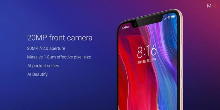 Xiaomi Mi 8 Officially Announced: 6.28-inch Display, Snapdragon 845, IR Face Unlock And Tons of AI Features