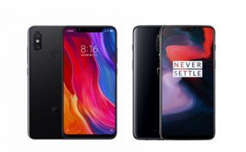 Xiaomi Mi 8 vs OnePlus 6 comparison