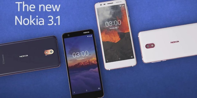 Nokia 5.1, Nokia 2.1, and 3GB Nokia 3.1