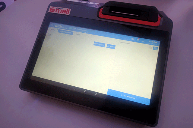 Paytm POS Device Shown at the Announcement