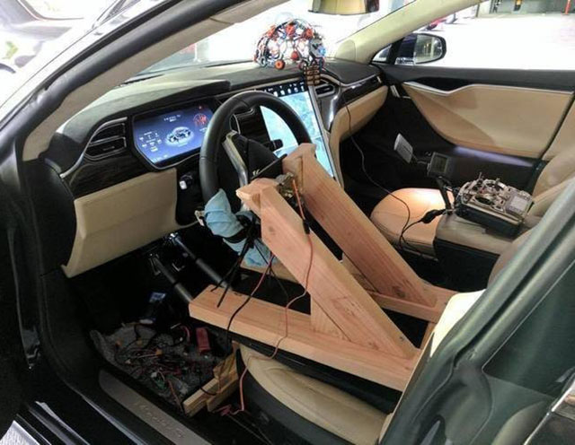 Brain-Controlled Tesla Model S