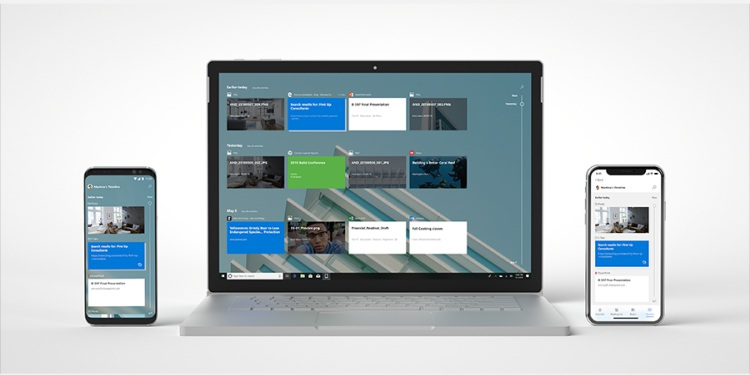 windows 10 timeline android ios app