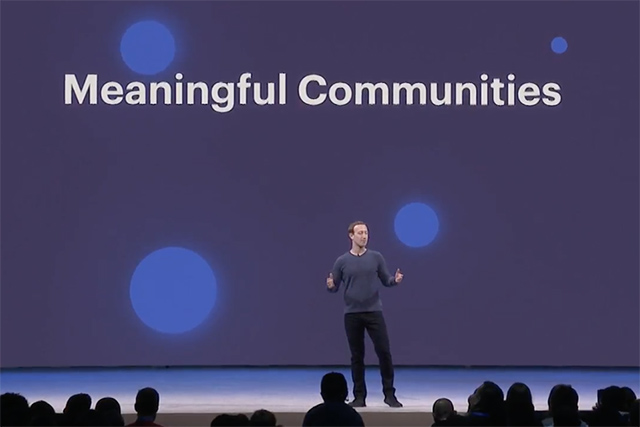 Zuckerberg at the Facebook F8 keynote