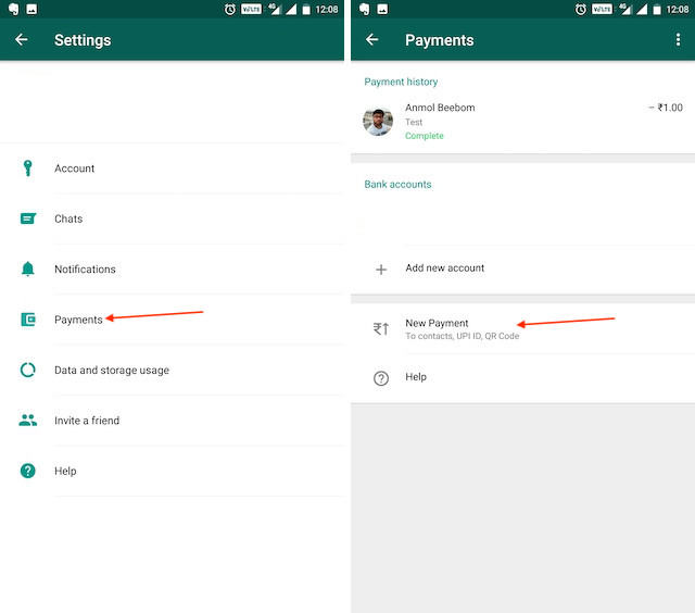 2. Request Money Using UPI (India Only) 1