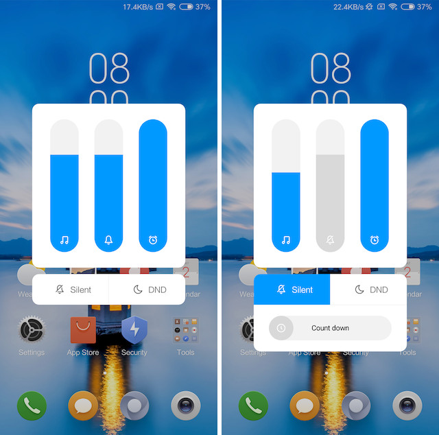 3. Android P-like Volume Slider and Notification Shade 2