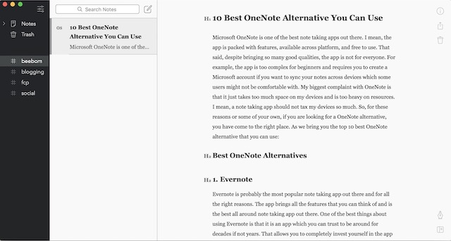 Top 10 OneNote Alternatives You Can Use (2019) | Beebom