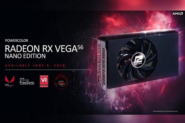 AMD Radeon RG Vega 56 Nano website