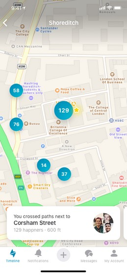 GPS-location based dating app