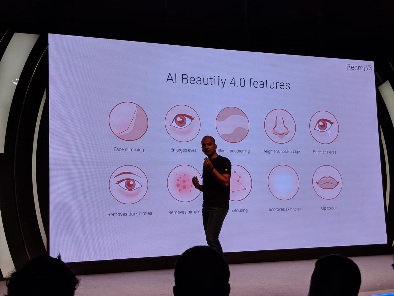Redmi Y2's AI Beautify Modes