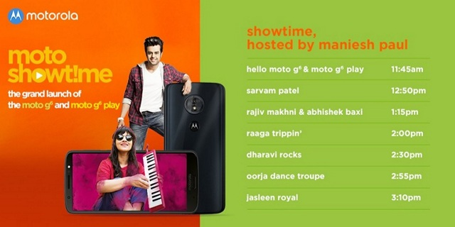 Moto G6, G6 Play India Launch to be Streamed on Twitter on June 4