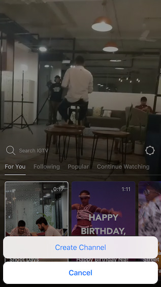 How to Create a Channel in IGTV