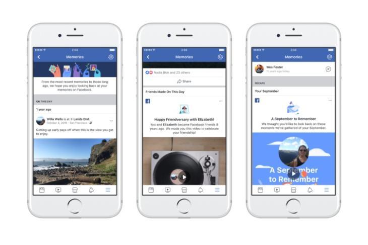 facebook memories page