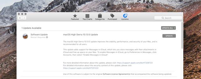 macOS 10.13.5 Update