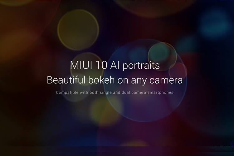 miui 10 ai portraits featured