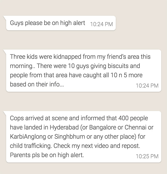 Whatsapp Fake News Leads to 22 Deaths in India in One Year