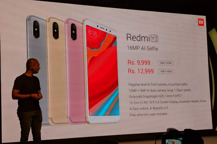 Xiaomi Launches Redmi Y2 With 16MP Selfie Camera; Priced Starting at Rs 9,999