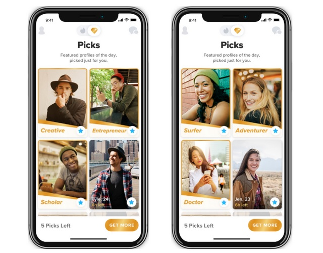 Tinder Testing 'Picks' to Recommend Profiles Based on Your Interests
