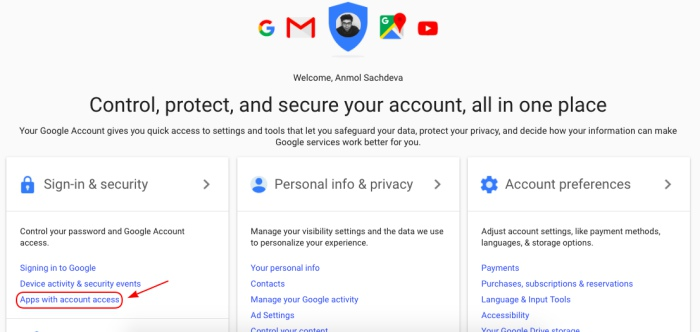 1 gmail revoke app access