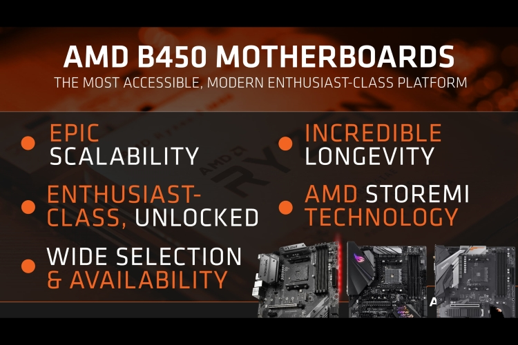 AMD Launches New B450 Chipset Motherboards With Wide CPU Support