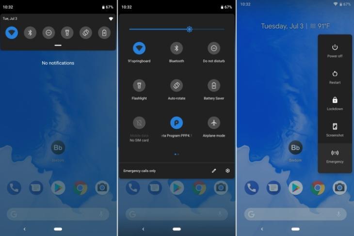 Android P Beta 3 Dark Mode Featured