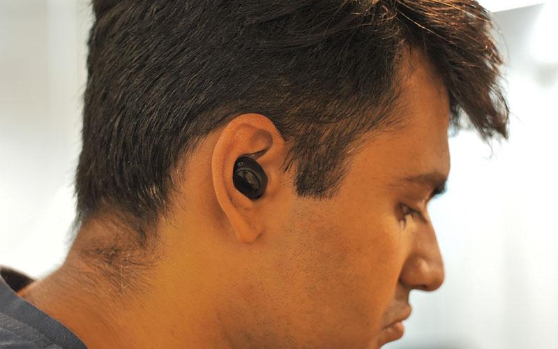 ESR truly wireless earbuds - wearing