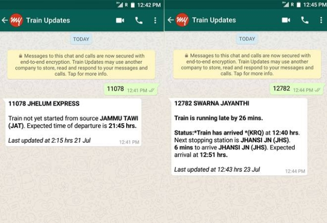 Now You Can Check Your IRCTC Train Status on WhatsApp