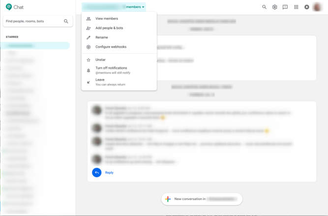 hangouts chat refreshed UI