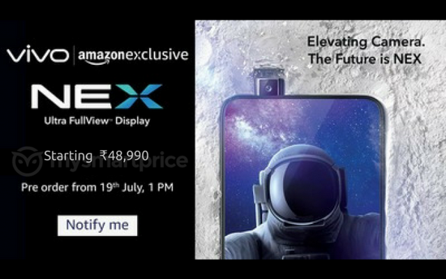 Vivo NEX Will Reportedly Be an Amazon-Exclusive with Launch Price of Rs 48,990
