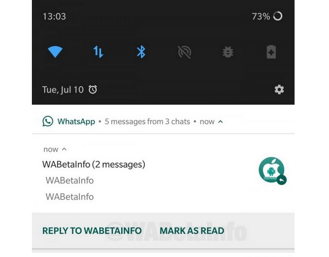 WhatsApp Testing 'Mark As Read' and 'Mute' Buttons In Android Notifications