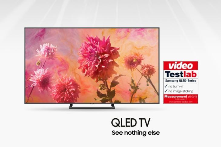 samsung qled tv burn-in test featured