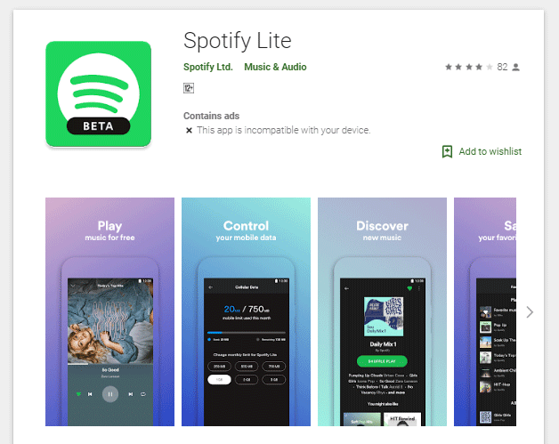Spotify Lite Arrives on Android With Limited Features, Data Limits