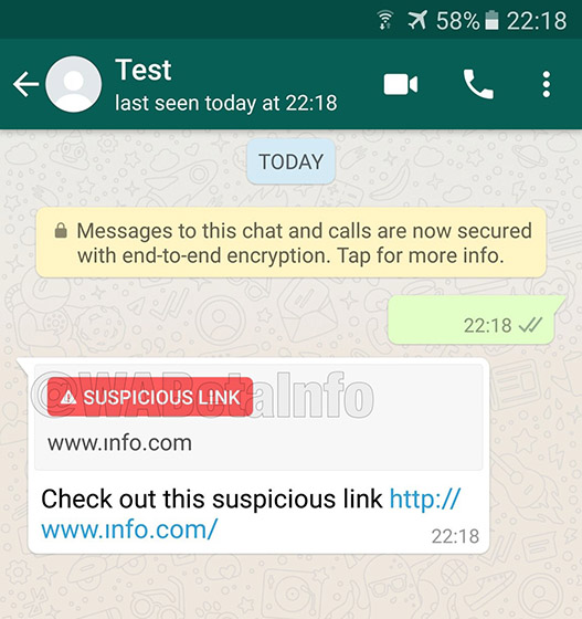WhatsApp Will Soon Notify You About Insecure Links