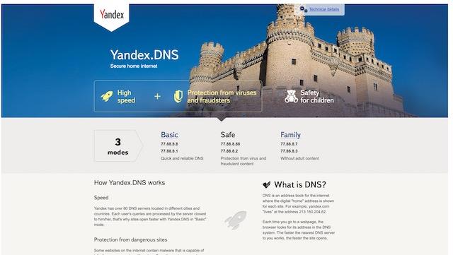 12. Yandex DNS