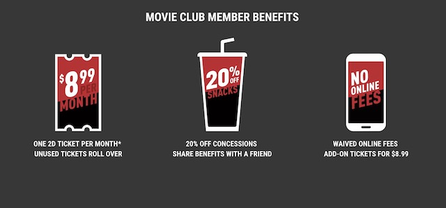 3. Cinemark Movie Club