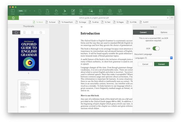 Converting PDF