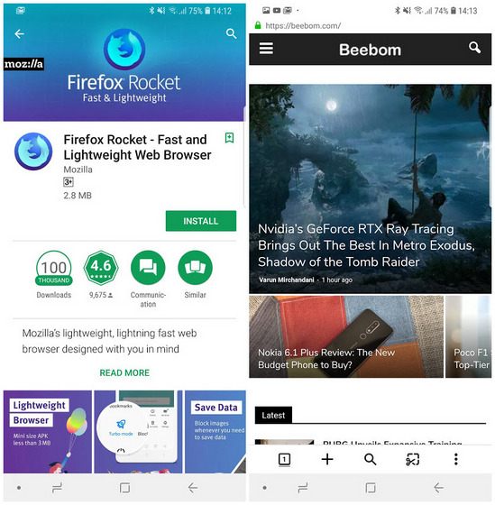 Mozilla's 'Firefox Rocket' Android Browser Now Available in India